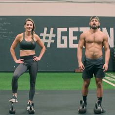Try this double kettlebell workout! @onnit @jenamays • Go to link in bio for more info 👊🏽💪🏽🔥