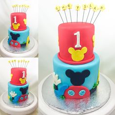 Mickey mouse club house cake design La maison de Mickey