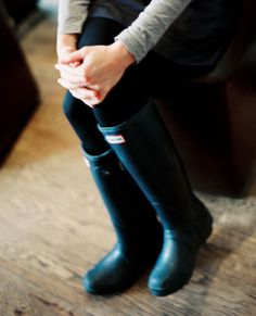 Wellies -- I wore these in Ireland back in December (cold & rainy weather)... I got teased because they (the Irish) told me the Scottish farmers wear them! LOL ~~ LeAnne