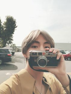 Tae and his vintage camera #BTS #V