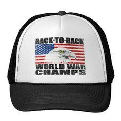 Vintage Back To Back World War Champs Eagle Hat