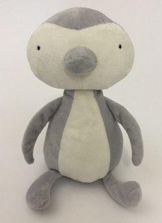 "Little Jellycat Penguin Thumble Baby Lovey Plush Toy Gray White Soft 7"" | eBay"