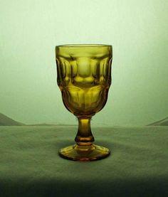 Libbey USA Pattern Ashdurton Stem 3011 Amber Wine Glass bfe1549 #Libbey