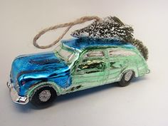 Car Ornaments Gl Modern Holiday Decor Top Vintage Cars Bottlebrush Christmas Stuff Trees
