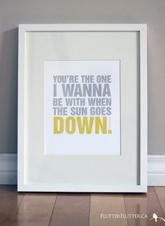 You're The One... art print by Rosa Pearson from FlutterFlutter.ca