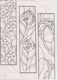 stained glass design for long panels: Stained Glass Quilt, Stained Glass Flowers, Faux Stained Glass, Stained Glass Designs, Stained Glass Panels, Stained Glass Projects, Mosaic Designs, Stained Glass Patterns, Mosaic Patterns
