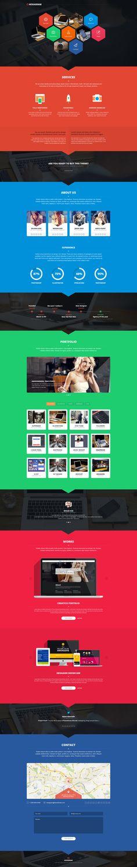 Hexagram - Unique portfolio by NumarisLP.deviantart.com on @deviantART #webdesign #flat
