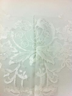 Finding the other symmetrical lace motif for the front of the peplum top