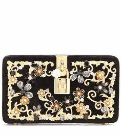 Dolce embellished velvet box clutch | Dolce & Gabbana