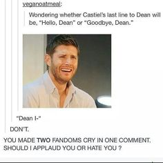 WHY WOULD YOU DO THIS TO SPN FANS AND WHOVAINS!?!?!?!?! WHY!?!?