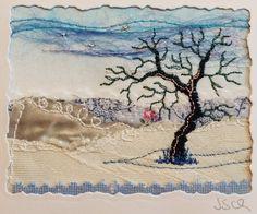 """""""Blaue Winter"""", 6,5 x 8,5 cm"""