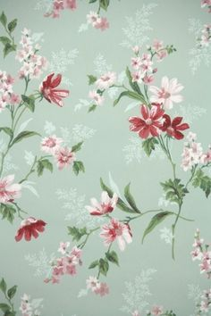 vintage wallpaper flowers