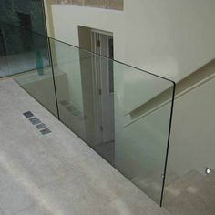 No handrail (6) Glass Stairs, Glass Railing, Frosted Glass, Clear Glass, Glass And Aluminium, Laminated Glass, Glass Balustrade, Modern Stairs, Pvc Material