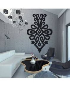 Naklejka Na Ścianę Góralska Parzenica VI Blue Design, Modern Interior, Wall Stickers, Folk, Home And Garden, Design Inspiration, Living Room, House, Tattoos