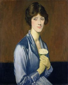 The White Rose 1919 by William Strang (1859-1921)