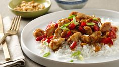 This colorful stir-fry gets its kick from a dash of red pepper.