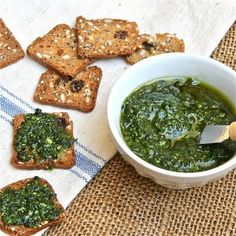 Kale Pesto | The Wimpy Vegetarian [maybe a T of soaked cashews instead of cheese?]