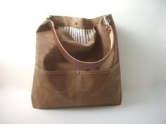 Waxed Canvas Hobo Bag by Independent Reign