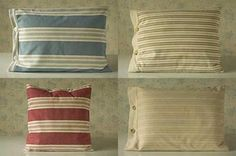 Raising Jane® Pillows, Striped with Buttons