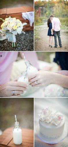 Anniversary Photo Shoot...love it!- milk and cake!!