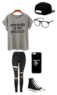 """Untitled #137"" by darksoul7 ❤ liked on Polyvore featuring Topshop, H&M, '47 Brand, Converse and Casetify"