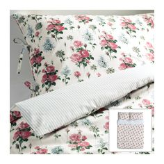 EMMIE SÖT Duvet cover and pillowcase(s) IKEA Lyocell/cotton blend. A soft bedlinen that aborbs and transports moisture away to keep you dry all night.