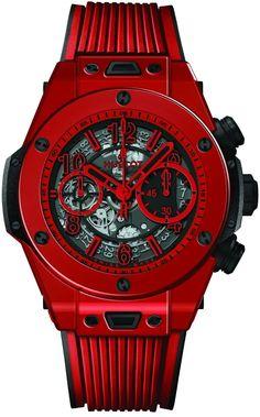 Gentleman Watch, Hublot Watches, Lady And Gentlemen, Watch Case, Luxury Watches, Bigbang, Inventions, Clocks, Red
