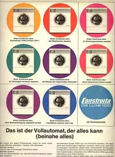 1964 Constructa Waschmaschine Advertising www.bullesconcept.com