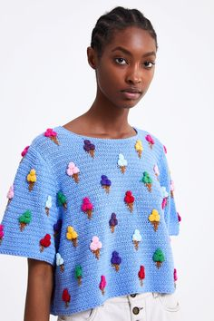 Spring Sweaters Are an Underrated Must-Have for Breezy Days hashtags Beau Crochet, Crochet Mignon, Pull Crochet, Knit Crochet, Crochet Clothes, Diy Clothes, Crochet Stitches, Crochet Patterns, Crochet Woman