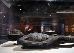 Momia de un hombre de Egipto, que data del 408 AC
