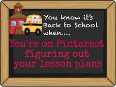 RainbowsWithinReach: You Know its Back to School When You're on Pinterest figuring out your lesson plans