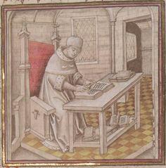 Miroir historial de Vincent de Beauvais, trad. par Jean de Vignay, premier volume (neuf livres). Date d'édition :  1401-1500  Français 308  Folio 1r