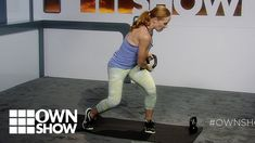 Fitness expert Amy Dixon demos the woodchop exercise using a kettlebell. It's a true killer for your core.