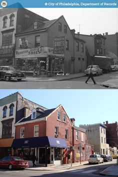 Then and Now: 406 South Street, Philadelphia Philadelphia History, Historic Philadelphia, Delaware Valley, Philly Style, South Philly, Urban Life, Local History, Best Vacations, Travel Usa
