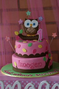 Cute Owl Cakes Owl cakes Cake and Cake birthday