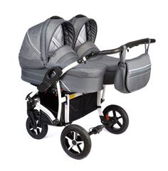 weight of pushchair mode: Full functionality and modern pram. Pram with EN Safety approved. forward and rearward-facing in baby tube, car seat and buggy. Best Twin Strollers, Double Baby Strollers, Double Stroller For Twins, Baby Prams, Twin Pram, Pushchair Liner, Baby Boy Swag, Prams And Pushchairs, Twins
