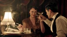 """Lady Agnes (Keeley Hawes) and Caspar Landry (Michael Landes) in Upstairs Downstairs """"The Love that Pays the Price"""" Michael Landes, Jazz Club, Drama Series, Period Dramas, Downton Abbey, Movies And Tv Shows, Movie Tv, Love, Film"""