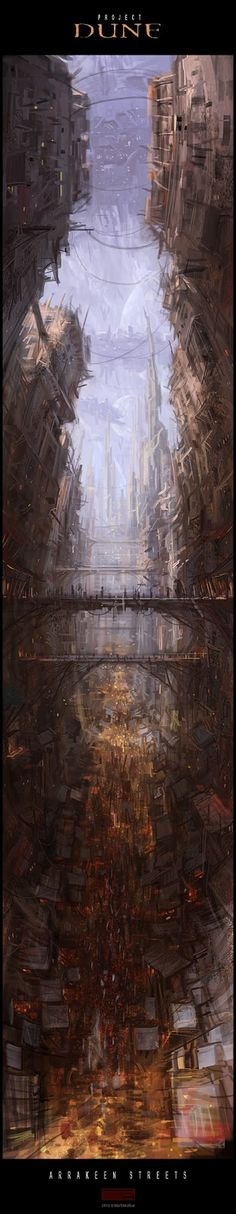 Mark Molnar - Sketchblog of Concept Art and Illustration Works: Project Dune: Arrakeen Streets (wip)