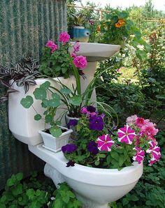 Garden Art - Potty Planter