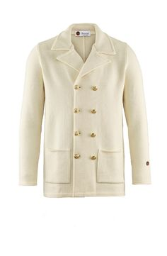 Tom Jacket in Off-white Toms, Menswear, Pullover, Blazer, Stylish, Casual, Fabric, Sweaters, How To Make