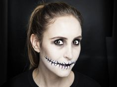 Stitched mouth halloween makeup tutorial | http://www.cosmopolitan.co.uk/beauty-hair/makeup/how-to/a30677/halloween-how-to-stitched-mouth-makeup/