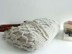Tasche NzLbags Beige-Ecru gestrickte Tasche Handtasche von NzLbags