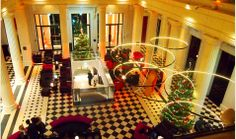 Nice bird's-eye-view of the decorated lobby at #RadissonBlu hotel in #Nantes http://www.radissonblu.com/hotel-nantes