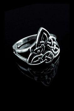 925er Silber Gothic Ring - Keltischer Dreiecksknoten