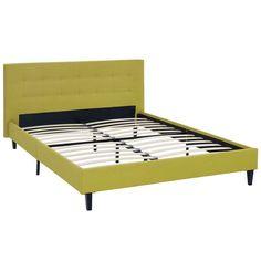 Modway Linnea Upholstered Platform Bed Wheatgrass - MOD-5426-WHE