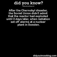 Did you know? Chernobyl