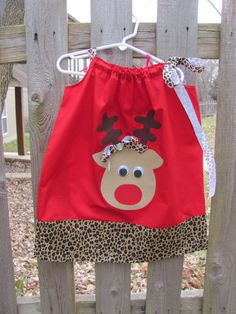Cute pillow case dress for Christmas!!