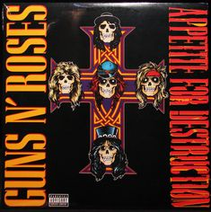 Guns N' Roses Appetite for Destruction Newest Pressing LP Vinyl Record (SEALED)  stores.ebay.com/capcollectibles