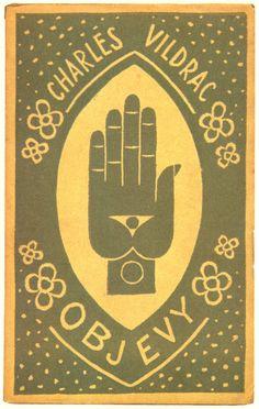 Revelations by Charles Vildrac (1923).  Book cover design by Josef Čapek