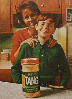 Tang. Released to the market in 1959, but a quintessential sixties product.
